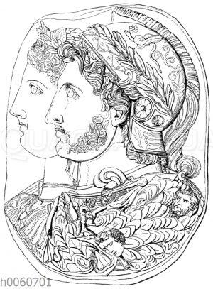 Cameo Gonzaga. (Ptolemaeos I. und seine Gemahlin Eurydike.)