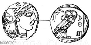 Münze von Athen