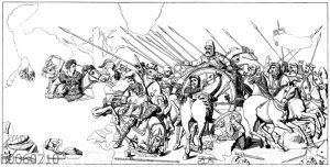Alexanderschlacht. Mosaik aus Casa del Fauno in Pompeji