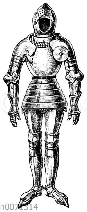 Ritterrüstung des 14. Jahrhunderts