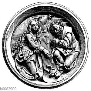 Reliefbild des englischen Grußes