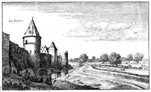Ein Stück der Stadtmauer von Düren im siebzehnten Jahrhundert