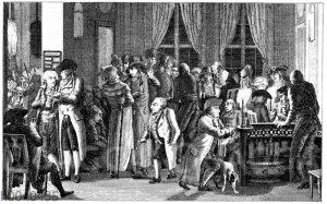 In Richters Kaffeehaus zu Leipzig um 1800