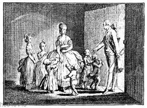 Titelkupfer von Chodowiecki zu Goethes Leiden des jungen Werther