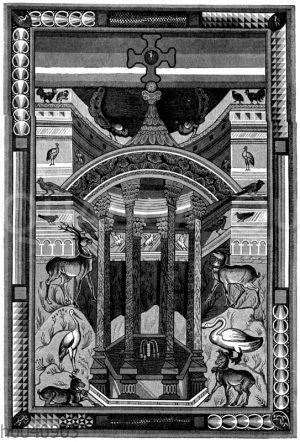 Miniatur in einem Evangelienbuch Karls des Großen
