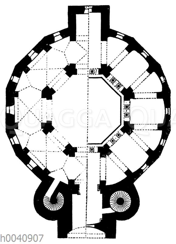 Grundriss des Münsters zu Aachen