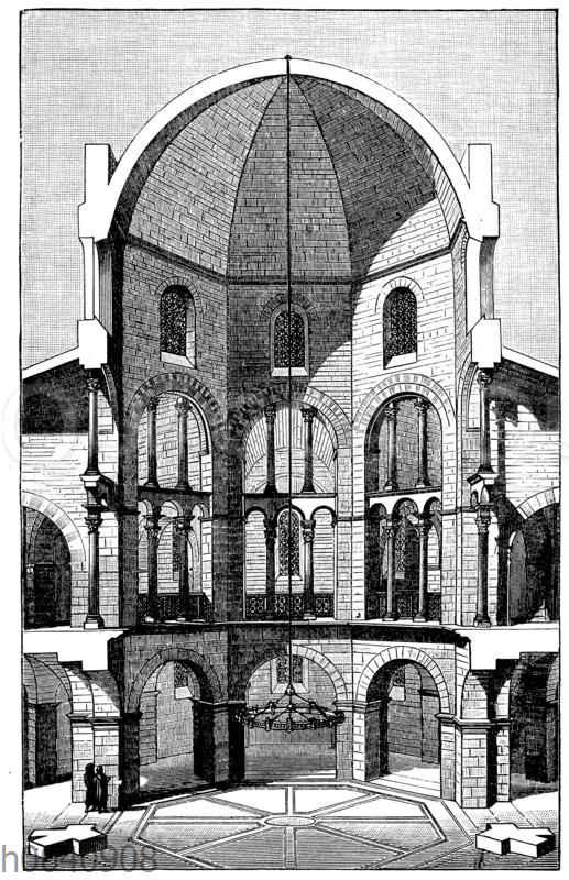 Durchschnitt des Münsters zu Aachen