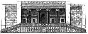 Restaurierte Südfront des Dariuspalastes in Persepolis