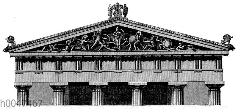 Giebelgruppe vom Tempel der Athene zu Ägina