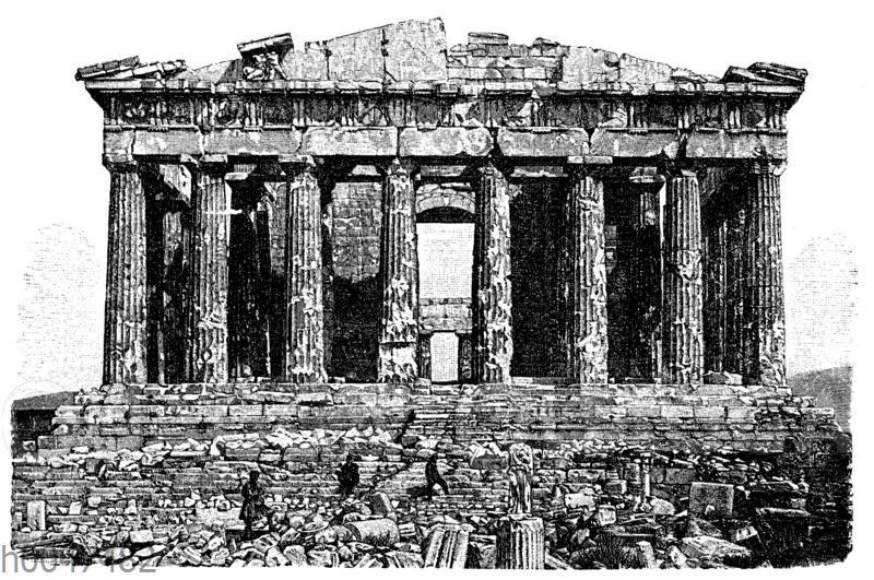 Parthenon auf der Akropolis. Heutiger Zustand