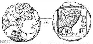 Tetradrachme von Athen