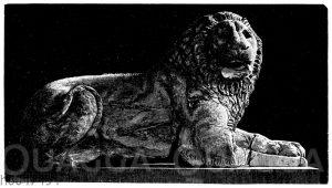 Marmorlöwe von einem dorischen Grabe am Borggebirge von Xnidos