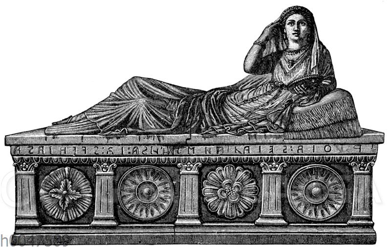 Etruskischer Sarkophag in Chiusi gefunden