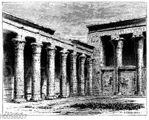 Hof des Horustempels in Edfu
