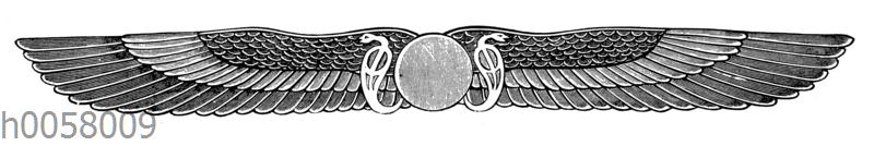 Geflügelte Sonnenscheibe von dem Memnonium zu Theben