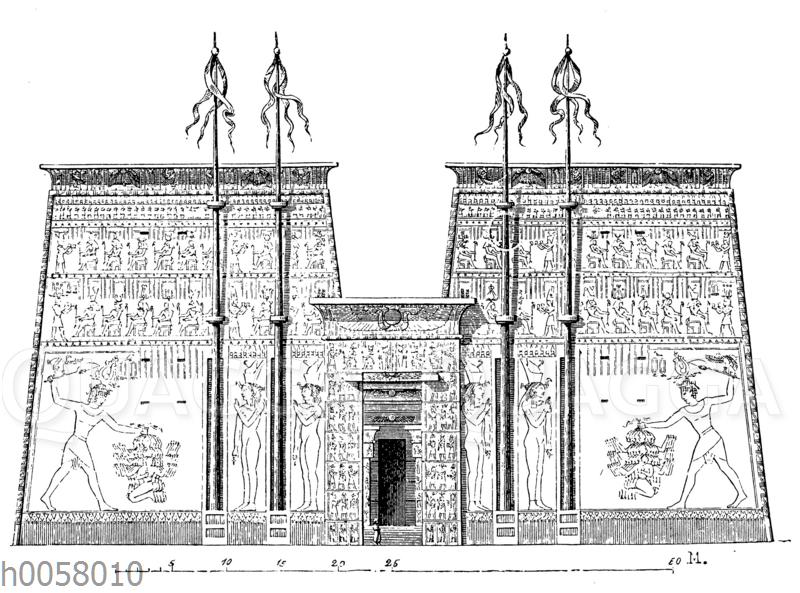 Fassade des Tempels zu Edfu