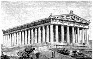 Rekonstruktion des Parthenon zur Perikleischen Zeit
