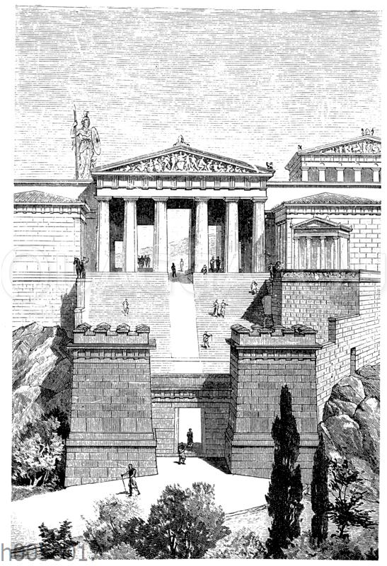 Die Propyläen der Akropolis in Athen