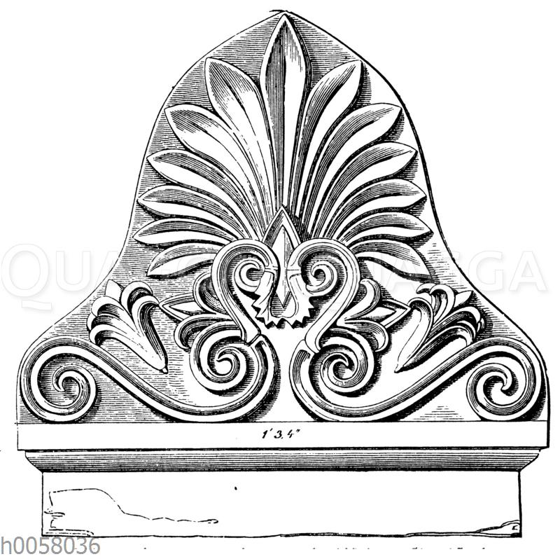 Akroterion von einer griechischen Grabstele