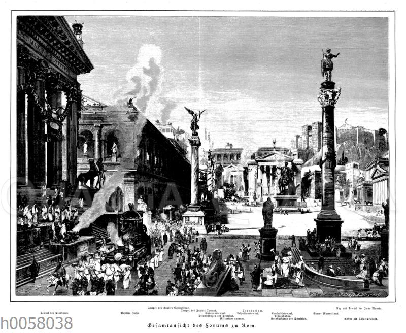 Gesamtansicht des Forums zu Rom