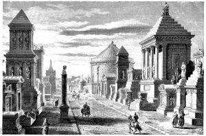 Die Via Appia (Gräberstraße) bei Rom