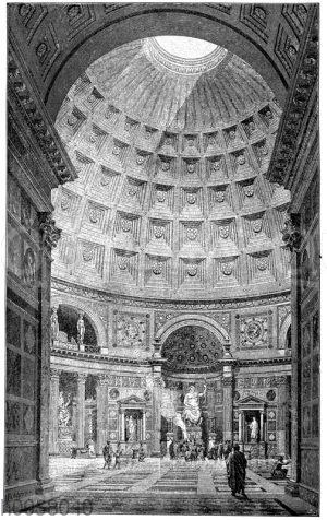 Innenraum des Pantheon der Agrippa zu Rom