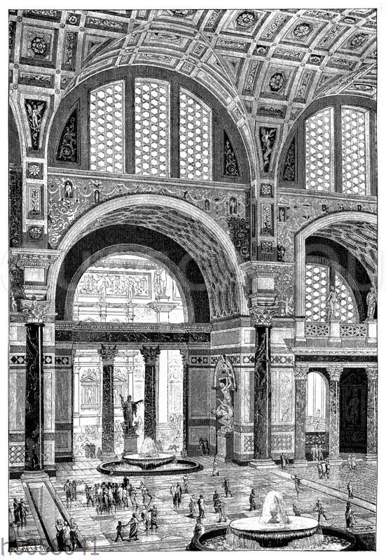 Hauptsaal der Thermen des Carnealla zu Rom