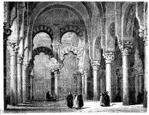 Inneres der Moschee zu Cordova