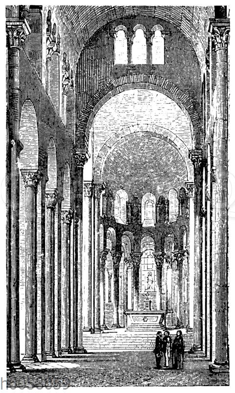 Innere Ansicht von Notre Dame du Port zu Clermont