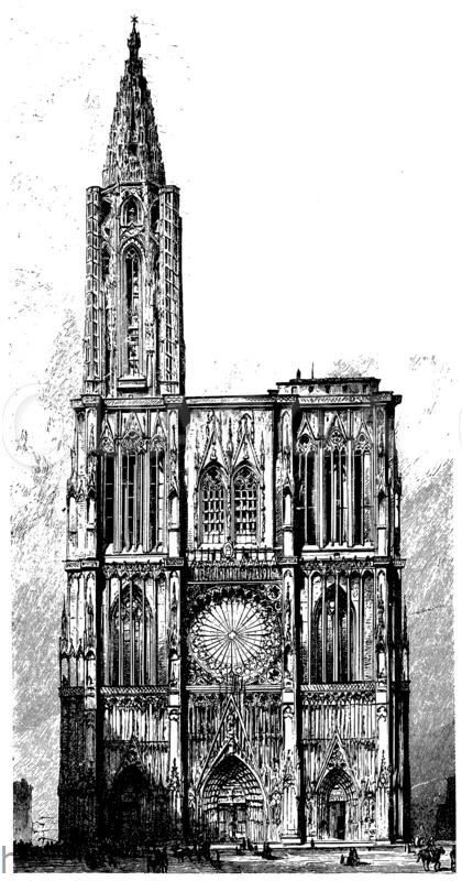 Westfassade des Münsters zu Straßburg