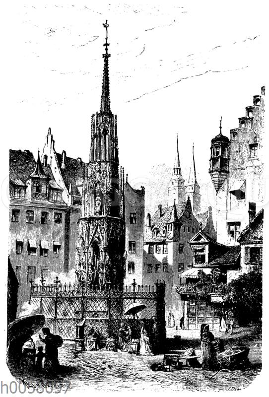 Der 'schöne Brunnen' in Nürnberg