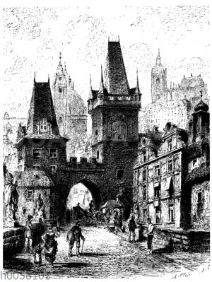 Kleinseitner Brückentürme zu Prag