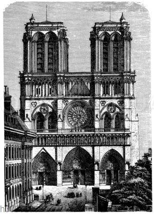 Fassade von Notre-Dame zu Paris