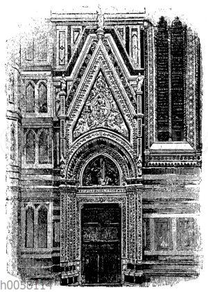 Seitenportal am Dom von Florenz