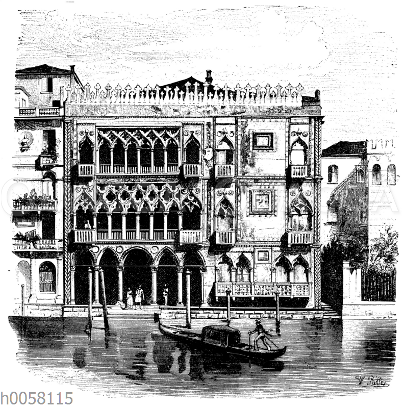 Palast Ca' d'Oro am Canal Grande in Venedig