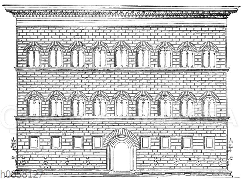 Fassade des Palazzo Strozzi in Florenz