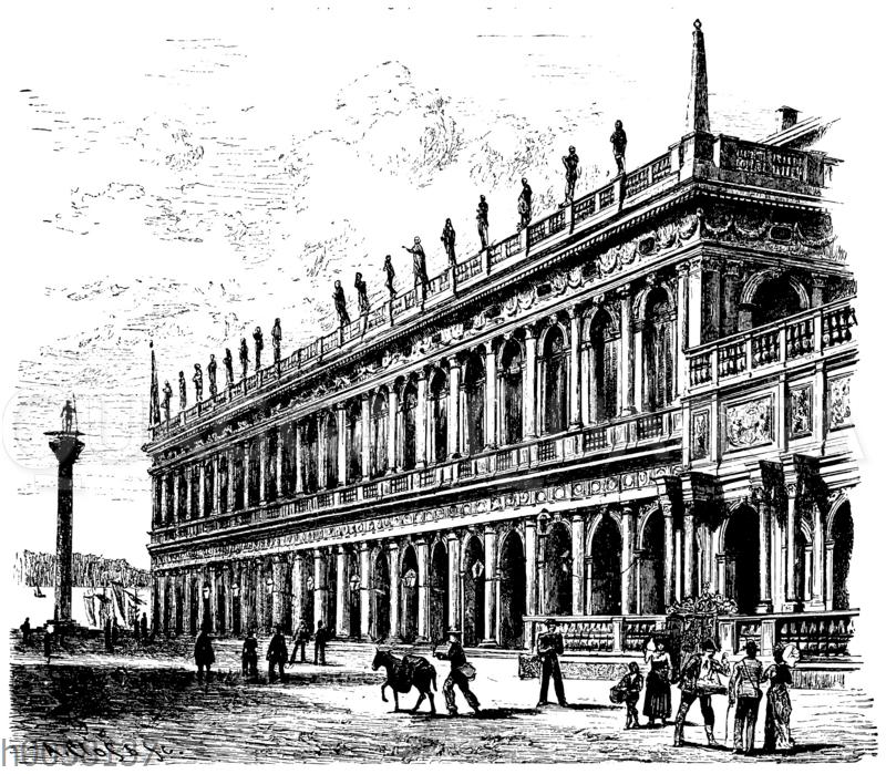 Libreria nuova von Sansovino in Venedig