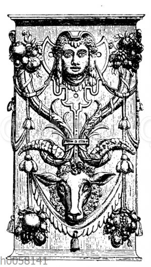 In Holz geschnitztes Ornament aus dem Dom in Mainz