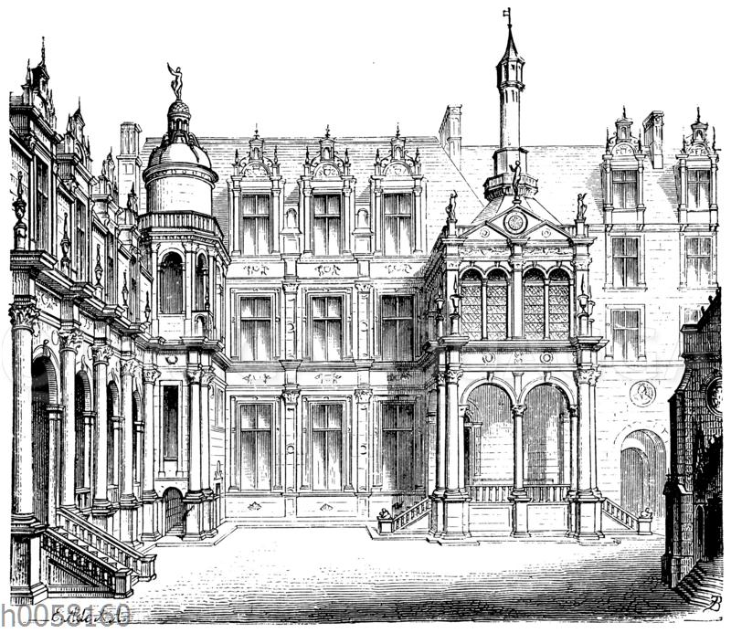 Hof des Schlosses Chantilly