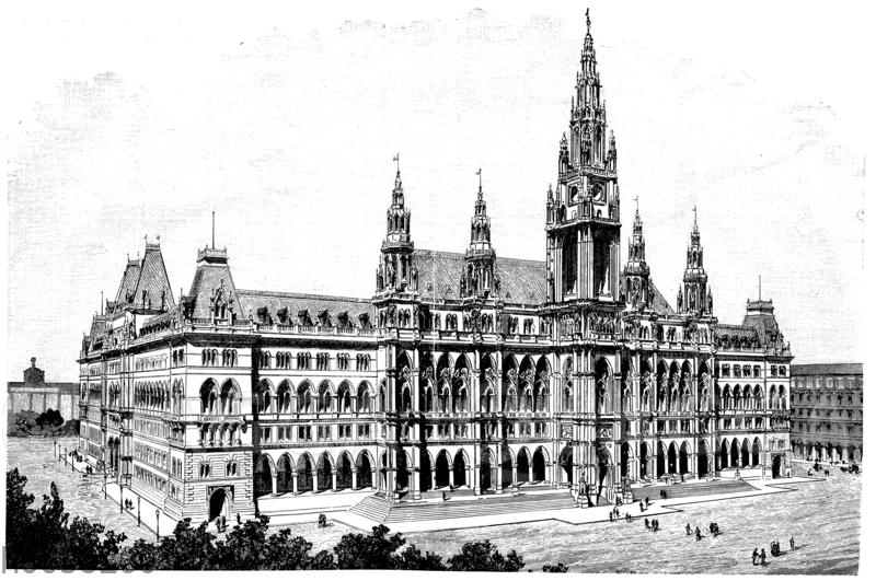 Das neue Rathaus in Wien