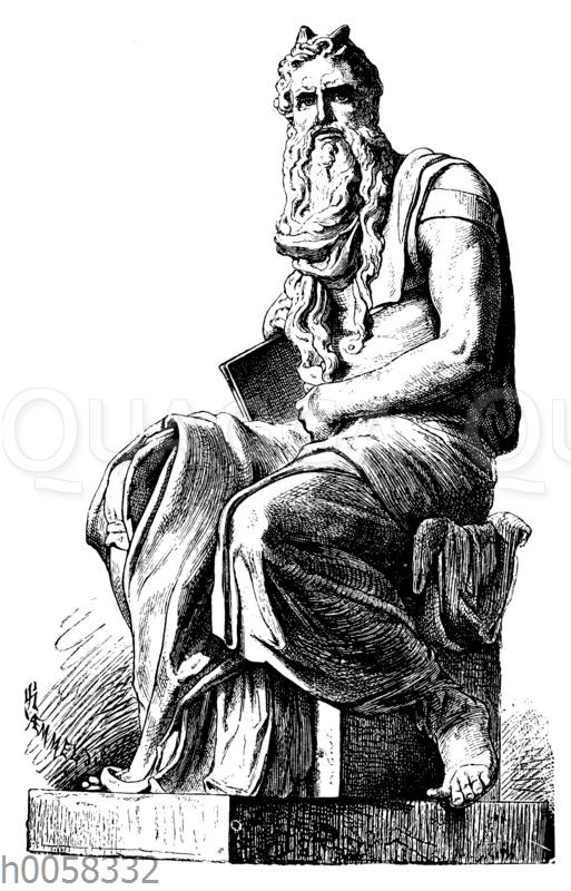Mosesstatue. Von Michelangel