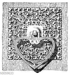 Gotischer Türgriff aus Schmiedeeisen