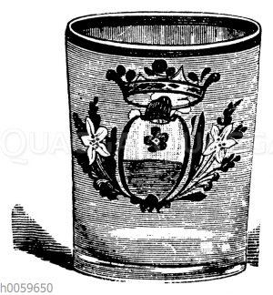Becherform eines deutschen Glases
