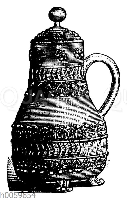 Niederrheinischcr Steinzeugkrug