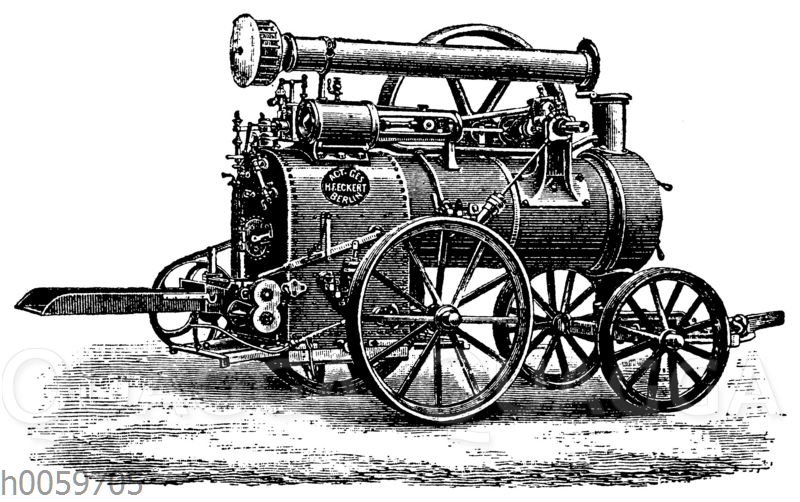 Lokomobile der Aktiengesellschaft H. F. Eckert