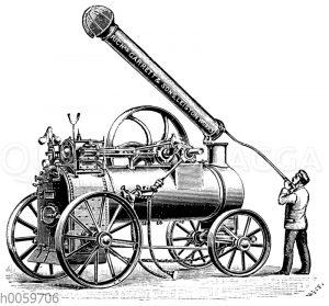 Eincylindrige Lokomobile von R. Garrett & Lons