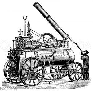 Lokomobile mit Compoundmaschine