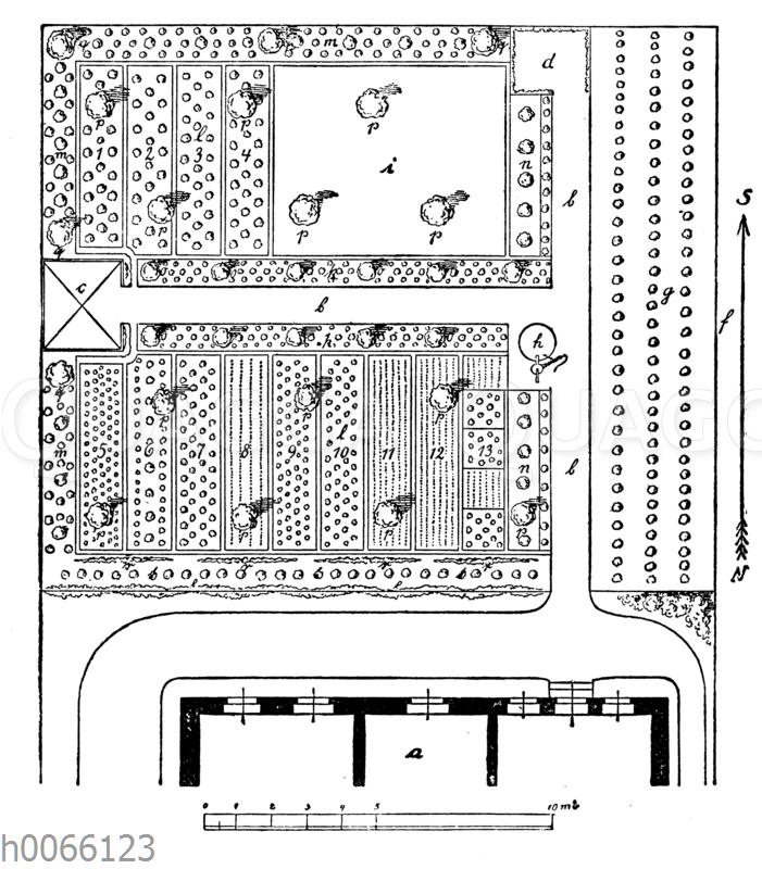 Plan zu einem Hausgarten