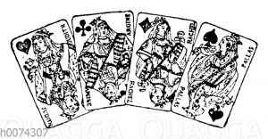 Spielkarten: Damen