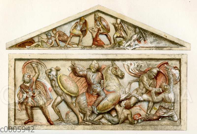 Alexandersarkophag' im Museum zu Konstantinopel